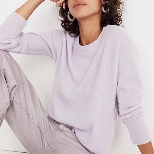 Madewell lavender cashmere sweater